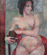 Nudes Painting Prints - Seated Nude Print by Susanne Clark
