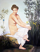 Judy Merrell - Seated Nude with...