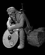 Warrior Sculptures - Seated Warrior by Jerry Williams