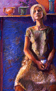 Pottery Pastels - Seated Woman by Ellen Dreibelbis