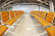 Air Travel Prints - Seating at Airport Gate Print by Don Mason