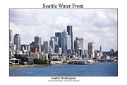 Space Needle Photographs Posters - Seatlle Water Front Poster by William Jones