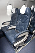 Air Travel Photos - Seats on an Airliner by Jaak Nilson
