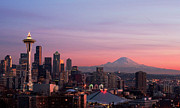 Communications Tower Prints - Seattle Print by Aaron Morris