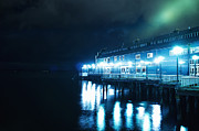 Seattle Waterfront Prints - Seattle Aquarium at Night Print by Tanya Harrison