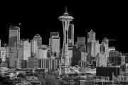 Seattle Black And White Print by Larry Keahey
