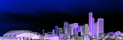 Seattle Skyline Art - Seattle Blue 2 by Nick Gustafson