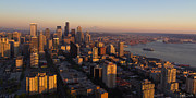 Down Town Prints - Seattle Blue Hour Print by Heidi Smith