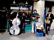 Buskers Photos - Seattle Buskers by Linda Hutchins