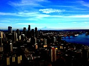 J Von Ryan Acrylic Prints - Seattle Cityscape Acrylic Print by J Von Ryan