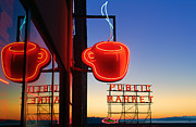 Pike Place Art - Seattle Coffee by Inge Johnsson