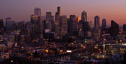Seattle Photos - Seattle Dusk by Mike Reid