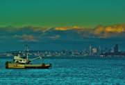 Sound Digital Art - Seattle Evening by Dale Stillman