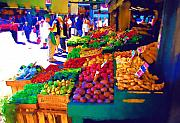 Seattle Digital Art Prints - Seattle Farmers Market 2 Print by Dale Stillman