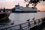 Seattle Waterfront Photos - Seattle Ferryboat by Kathi Shotwell