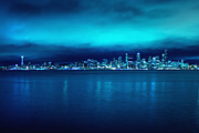 Seattle Skyline Art - Seattle From Alki by Tanya Harrison