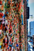 Post Alley Framed Prints - Seattle Gum Wall Framed Print by Spencer McDonald