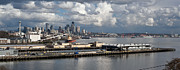 Puget Sound Framed Prints - Seattle Pier View Framed Print by Mike Reid