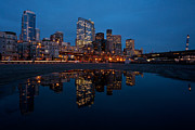 Seattle Photos - Seattle Reflected by Mike Reid