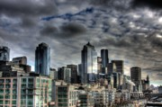 Unsettling Prints - Seattle Skyline Print by John Lamb