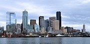 Seattle Skyline Art - Seattle Skyline by Kat Scanlon
