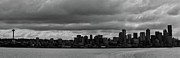 Seattle Skyline Framed Prints - Seattle Skyline Framed Print by Peter Verdnik