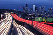Long Street Prints - Seattle Skyline Print by Stephen Kacirek