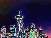 Seattle Skyline Print by Tim Allen