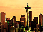 Seattle Skyline Print by Vicki Jauron