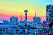 Seattle Space Needle Print by RJ Aguilar