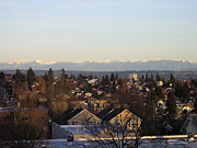Silvie Kendall Metal Prints - Seattle Suburb in Winter Metal Print by Silvie Kendall