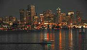 Cityscapes Prints - Seattle Sunset ll Print by Dan Fulk