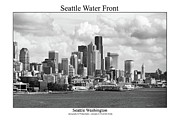 Space Needle Photographs Framed Prints - Seattle Water Front Framed Print by William Jones