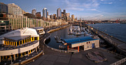 Seattle Framed Prints - Seattle Waterfront Framed Print by Mike Reid