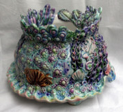 Crab Ceramics - Seaware Planter by Renee Kilburn