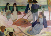 Gatherers Posters - Seaweed Gatherers Poster by Paul Gauguin