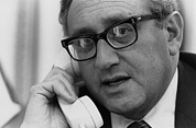 Telephones Prints - Sec. Of State Henry Kissinger Print by Everett
