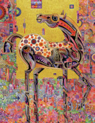 Abstracted Animal Paintings - Secessionist Horse by Bob Coonts