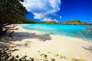 Blue Sky Art - Secluded  Beach by George Oze