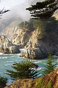 Secluded Big Sur Cove 1 Print by Jeff Lowe