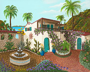 Limited Edition Paintings - Secluded Paradise by Katherine Young-Beck