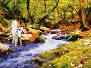 Autumn Water Prints - Secluded Stream Print by Jai Johnson