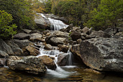Peaceful Scene Posters - Second Falls - Blue Ridge Falls Poster by Andrew Soundarajan