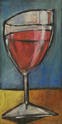 Stylized Beverage Painting Framed Prints - Second Glass Of Red Framed Print by Tim Nyberg