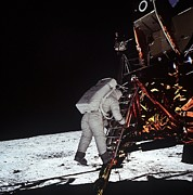 Walks Photos - Second Man On The Moon. Astronaut Edwin by Everett