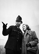 Police Officer Framed Prints - Second On The Right Framed Print by Bert Hardy
