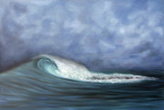 Surf Artist Paintings - Second Reef by Kelly Headrick