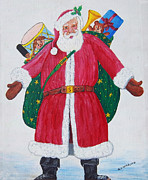 Santa Claus Paintings - Second Santa by Gordon Wendling