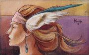 Headdress Paintings - Secondary Wings Left by Jacque Hudson-Roate
