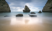 Sea Reliefs Metal Prints - Secret beach Metal Print by Jorge  Fonseca